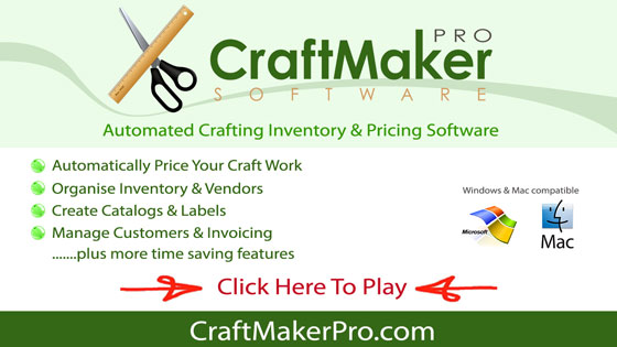 Craft Maker Pro Handmade Pricing Inventory Made Simple Craft - Free simple invoice software online craft store